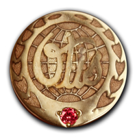 Значки серебряные со стразами Сваровского изготовлены компании OTIS