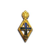 Нагрудный знак ДОКТОР НАУК, фрачный , традиционный, позолоченное серебро
