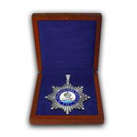 Именной почётный знак За гражданские заслуги  II  степени в футляре