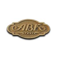 Корпоративный золотой знак кондитерская компания АВК.