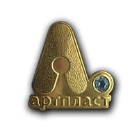 Золотой значок с топазом Компании «Артпласт».
