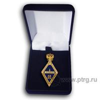 Нагрудный знак МАГИСТР , парадный , с символикой РАН в футляре