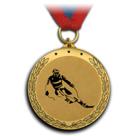 Медаль-подарок горнолыжнику.